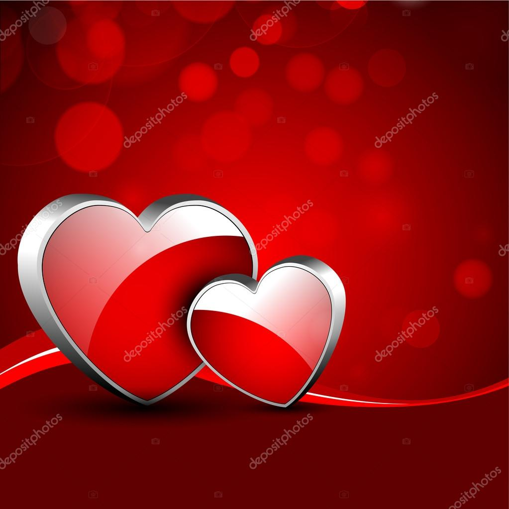 Valentines Day background, greeting card or gift card . — Stock Vector #19657961