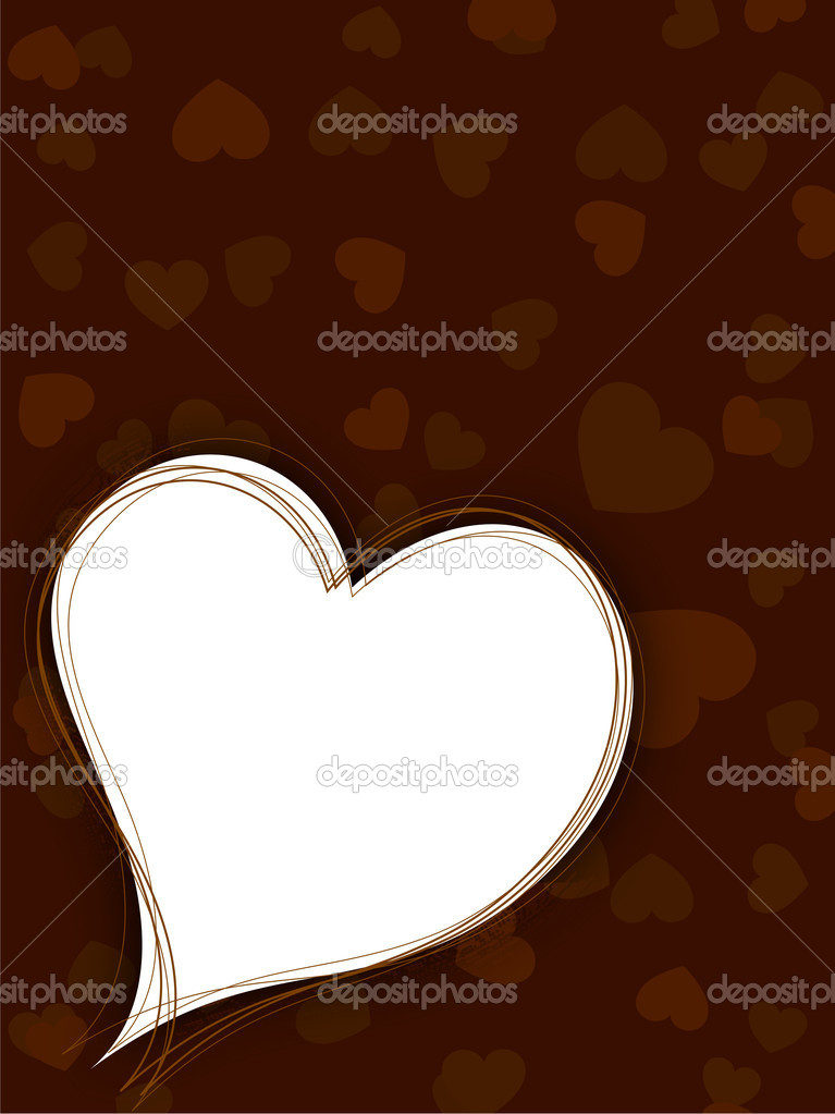 Valentines Day background, greeting card or gift card . — Stock Vector #19657989