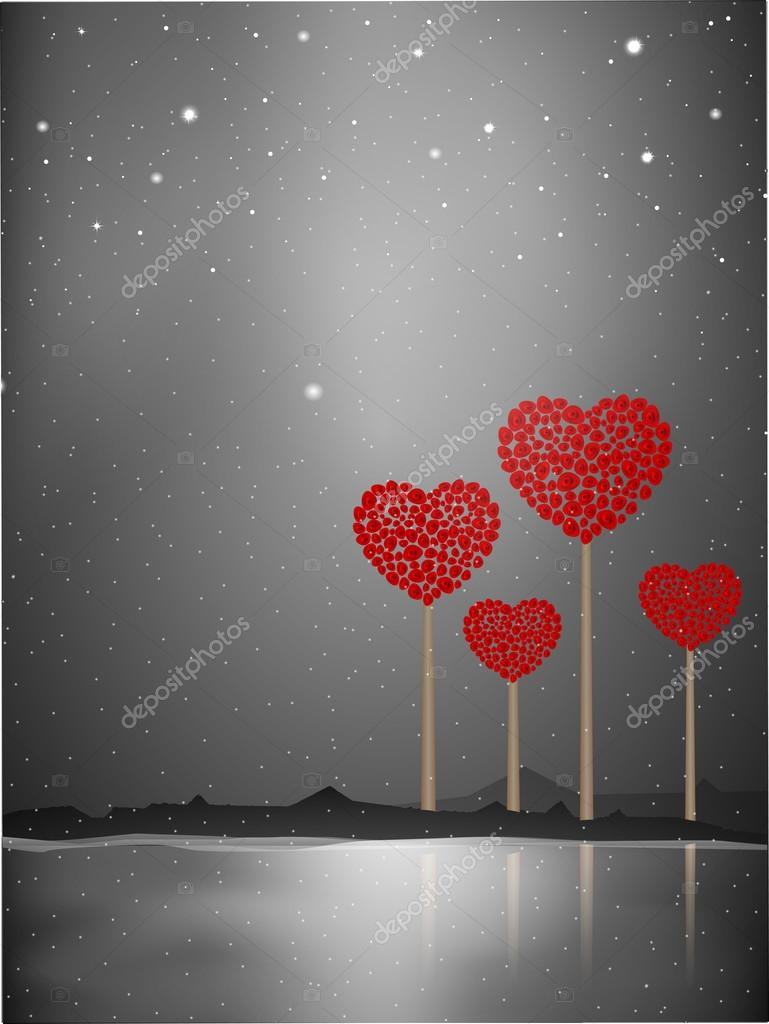 Valentines Day background, greeting card or gift card . — Stock Vector #19657993