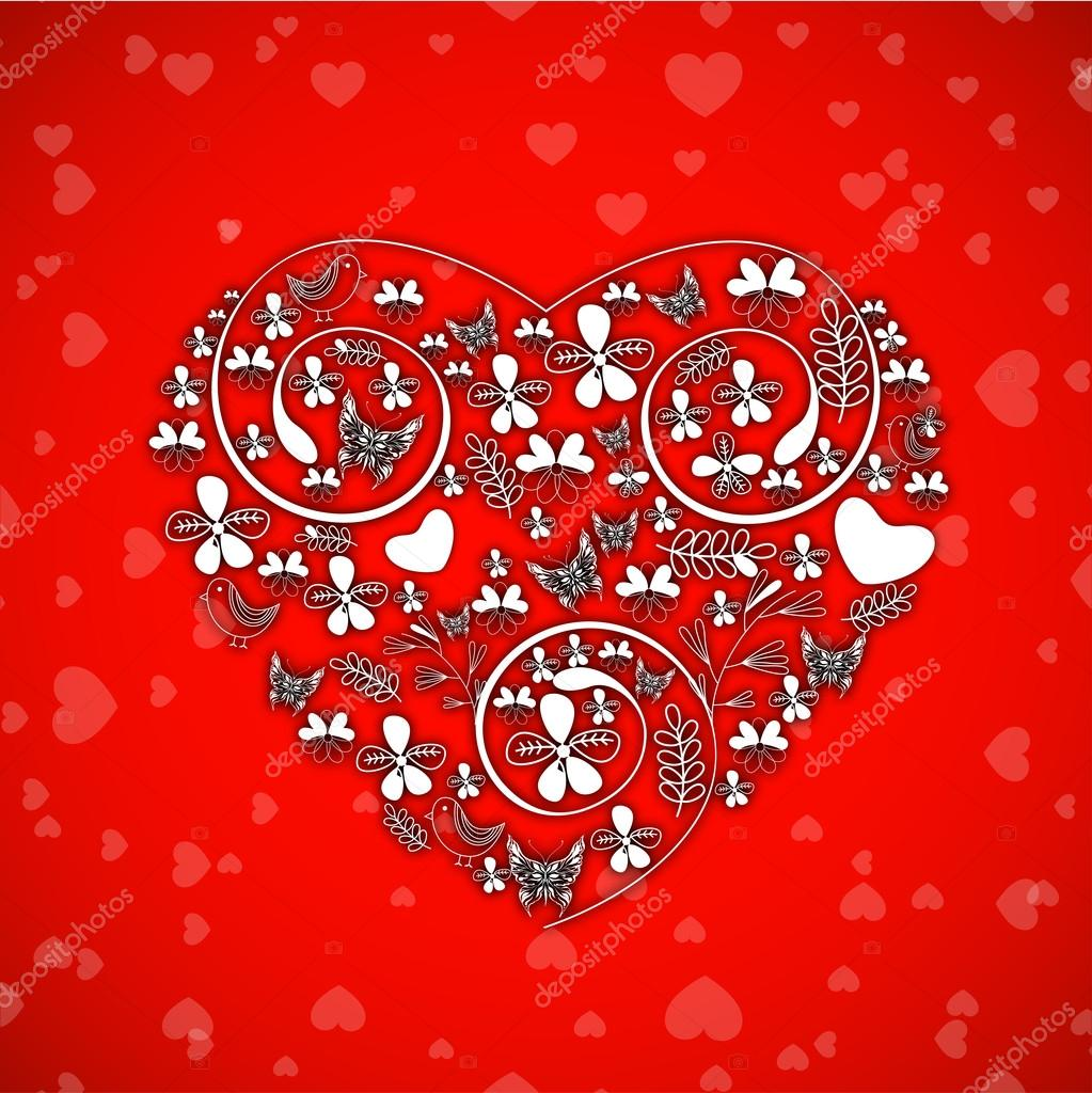 Valentines Day background, greeting card or gift card . — Stock Vector #19658013