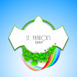Irish shamrock leaves background for Happy St. Patrick's Day. EP - Stock vektor