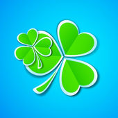 Shamrock leaves background for Happy St. Patrick's Day. EPS 10. — Stock Vector