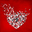 Happy Valentines Day background, greeting card or gift card, lov - Векторная иллюстрация