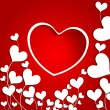 Beautiful Valentine's Day background, gift or greeting card with — Векторная иллюстрация