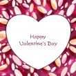 Happy Valentine's Day greeting card, love card or gift card. — ストックベクタ