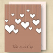 Happy Valentine's Day greeting card, love card or gift card. — Vettoriali Stock