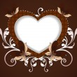 Happy Valentine&#039;s Day background with floral decorative heart sh - Image vectorielle