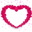 Beautiful Valentine's Day background, gift or greeting card with - Stock Vector