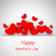 Happy. Valentine's Day background, gift or greeting card with re — Stock Vector