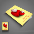 Saint Valentines Day flyer or banner with red heart. EPS 10. - Image vectorielle