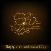 Heureux jour de valentines fond, voiture cadeau ou carte de voeux avec — Vecteur