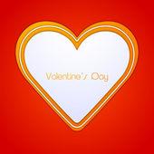 Happy valentijnsdag wenskaart of geschenkenkaart. — Stockvector