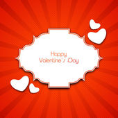 Happy Valentines Day Background, love concept. — Vector de stock