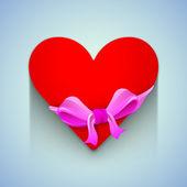 Valentinstag hintergrund mit klebrig, etikett oder tag im herzen sha — Stockvektor