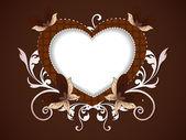 Glad alla hjärtans dag bakgrund med blommor dekorativt hjärta sh — Stockvektor
