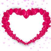 Hermoso fondo de san valentín, regalo o tarjeta de felicitación con — Vector de stock