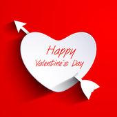 Feliz dia dos namorados de fundo, presente ou cartão com pap — Vetor de Stock