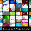 Set of Business cards in Eps 10 format. - Vettoriali Stock