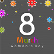 Happy Women's Day background. — Stock Vector