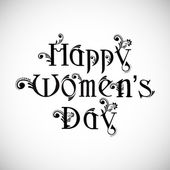 Happy Women's Day text on grey background. — Stock Vector