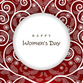 Greeting card or background for Happy Women's Day. — 图库矢量图片
