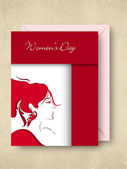 Happy Women's Day greeting card.. — Stockvector