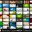 Elegant Abstract Vector Business Cards, Mixed Bag set in various — Stock Vector #21174193