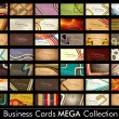 Mega Collection Abstract Vector Retro Business Cards set in vari - Stock Vector