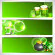 Website header or banner set for St. Patrick's Day celebration w — Stock Vector