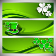Website header or banner set for St. Patrick's Day celebration s — Stock Vector