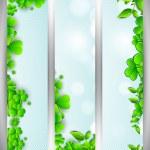 Website banner set for St. Patrick's Day celebration with shamro — Stock Vector