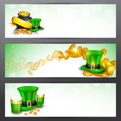 Website header or banner set for St. Patrick's Day celebration w — Stockvektor