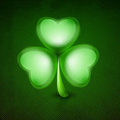 Irish shamrock leave green background for Happy St. Patrick's Da — Stock Vector