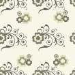 Abstract seamless floral pattern. — ベクター素材ストック