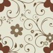 Abstract seamless floral pattern. - Imagen vectorial