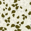 Abstract seamless floral pattern. — Stockvectorbeeld