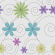 Abstract seamless floral pattern. — Stok Vektör