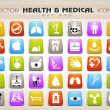 Medical icons set. EPS 10. — Stock Vector