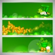 Website header or banner set for St. Patrick's Day celebration.  — Stock Vector