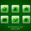 Icon set for Happy St. Patrick's Day. — Stock Vector