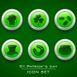 Icon set for Happy St. Patrick's Day. — Stockvektor #21663387