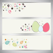 Website header or banner set for Happy Easter. — Stock Vector