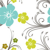 Abstracte naadloze bloemmotief. — Stockvector