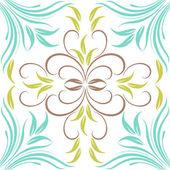 抽象的なシームレスな花柄. — ストックベクタ
