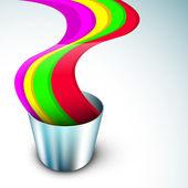 Ilustración vectorial de indio colorido festival holi con colores — Vector de stock