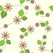 Astratto seamless pattern floreale. — Vettoriale Stock