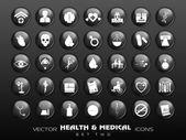Ensemble d'icônes médicales. eps 10. — Vecteur