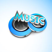 Abstract blue music background. — Stock Vector