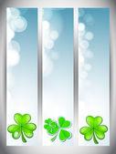 Website banners set for St. Patricks Day — Stockvektor