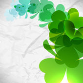 Irish shamrock leaves background for Happy St. Patrick's Day. EP — ストックベクタ